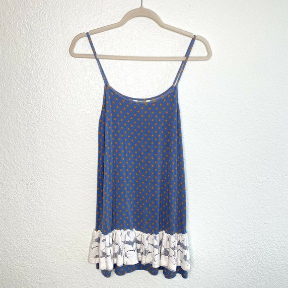 Matilda Jane Polka Dot Lace Trim Tank Top Tunic